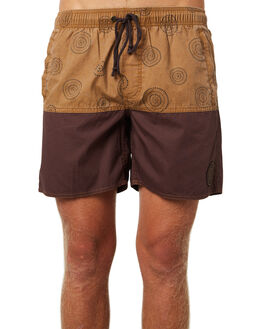 COFFEE MENS CLOTHING AFENDS BOARDSHORTS - M184359COF