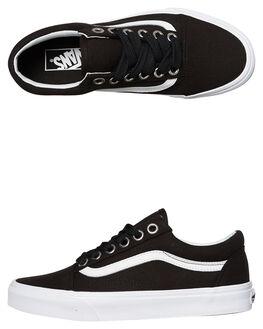 BLACK BLACK WHITE WOMENS FOOTWEAR VANS SNEAKERS - SSVNA38G1R0WBLKWW
