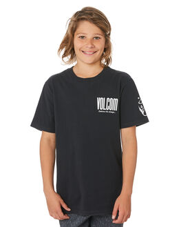 BLACK KIDS BOYS VOLCOM TOPS - C4341972BLK