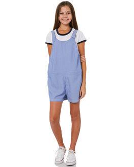 BLUE WHITE STRIPE KIDS GIRLS EVES SISTER PLAYSUITS + OVERALLS - 9920036BLSTR