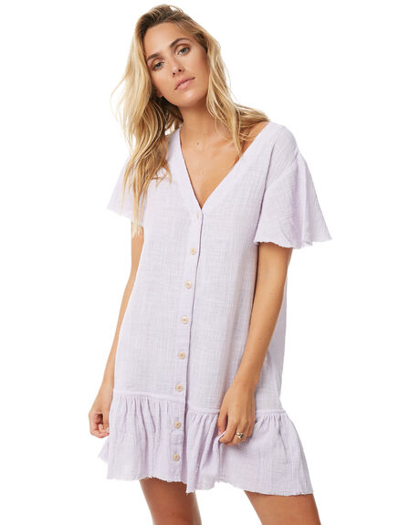 SOLID LILAC WOMENS CLOTHING RUE STIIC DRESSES - S118-12LILAC