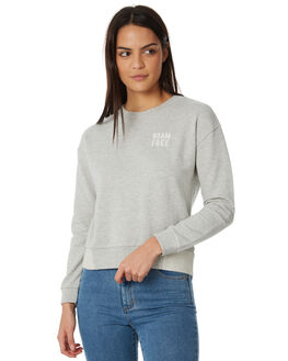 HERITAGE HEATHER WOMENS CLOTHING ROXY JUMPERS - ERJFT03767SGRH