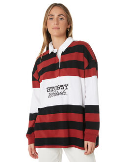 BLACK STRIPE WOMENS CLOTHING STUSSY TEES - ST191102BLKS