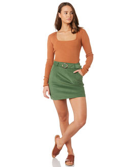 KHAKI WOMENS CLOTHING MINKPINK SKIRTS - MD1809934KHA