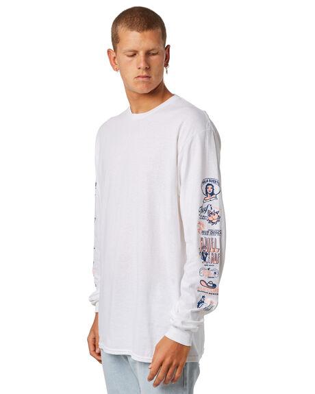 WHITE MENS CLOTHING HUF TEES - TS00503WHITE