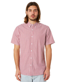 RED WHITE MENS CLOTHING HUFFER SHIRTS - MSH83S3203RWHT