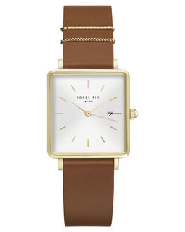 WHITE COGNAC GOLD WOMENS ACCESSORIES ROSEFIELD WATCHES - QSCG-Q029WHTCG