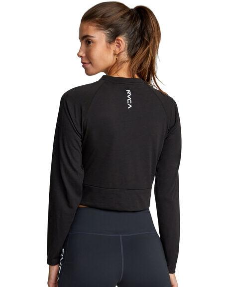 BLACK WOMENS CLOTHING RVCA TEES - RV-R417091-BLK