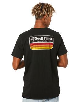 BLACK MENS CLOTHING SWELL TEES - S5204001BLACK
