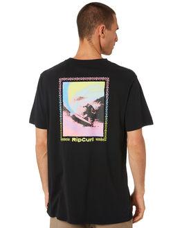 BLACK MENS CLOTHING RIP CURL TEES - CTEKU90090