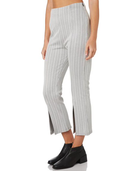 BLACK WHITE STRIPE WOMENS CLOTHING MINKPINK PANTS - MP1808031BLKWH