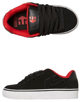 BLACK RED KIDS BOYS ETNIES SNEAKERS - 4301000086595