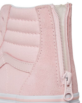 CHALK PINK KIDS GIRLS VANS HI TOPS - VNA3276Q1CCPNK