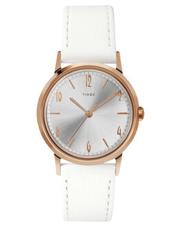 ROSE GOLD WHITE WOMENS ACCESSORIES TIMEX WATCHES - TW2T18300RGW