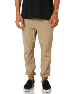 KHAKI MENS CLOTHING HURLEY PANTS - MPT000067026B