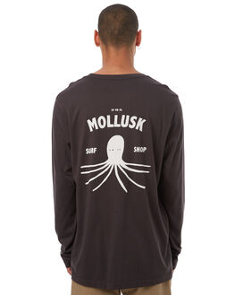 FADED BLACK MENS CLOTHING MOLLUSK TEES - MS1228LSFBLK