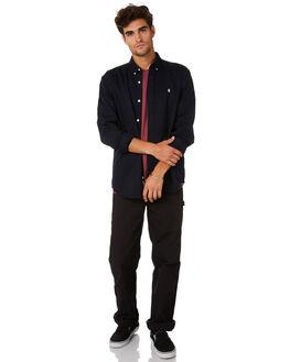 DARK NAVY WHITE MENS CLOTHING CARHARTT SHIRTS - I0233391C