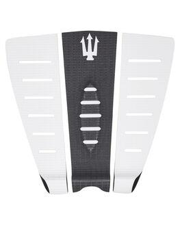 WHITE BLACK BOARDSPORTS SURF FAR KING TAILPADS - 1206WHTBK