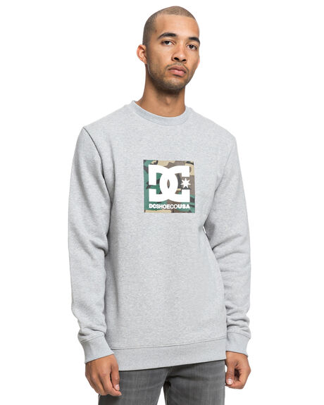 GREY HEATHER MENS CLOTHING DC SHOES JUMPERS - EDYSF03181KNFH
