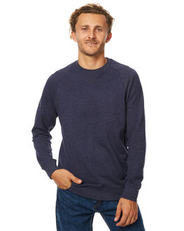 NAVY MARLE MENS CLOTHING AS COLOUR JUMPERS - 5106NVY