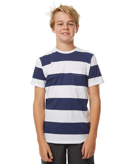 NAVY WHITE KIDS BOYS SWELL TEES - S3161004NVYWT
