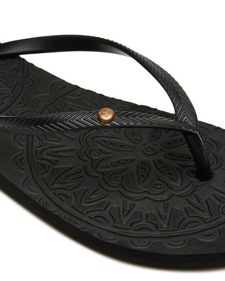 BLACK WOMENS FOOTWEAR ROXY THONGS - ARJL100798BLK
