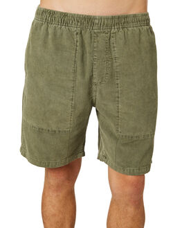 ARMY GREEN MENS CLOTHING THRILLS SHORTS - TR8-301FARMY