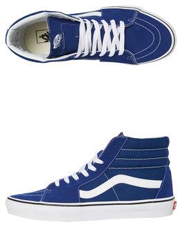 ESTATE BLUE WHITE WOMENS FOOTWEAR VANS SNEAKERS - SSVNA38GEQ9WBLUW