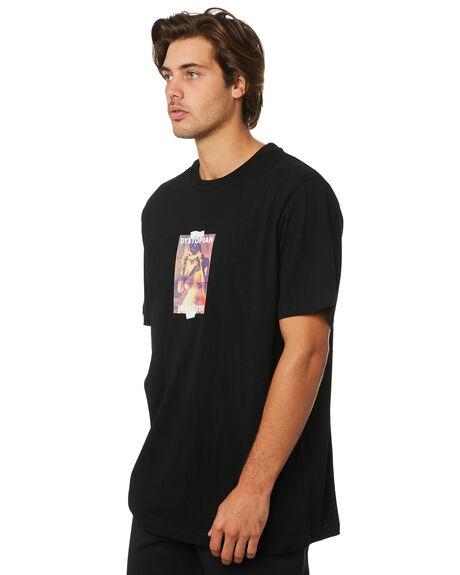 BLACK MENS CLOTHING THRILLS TEES - TSI5-132BBLK