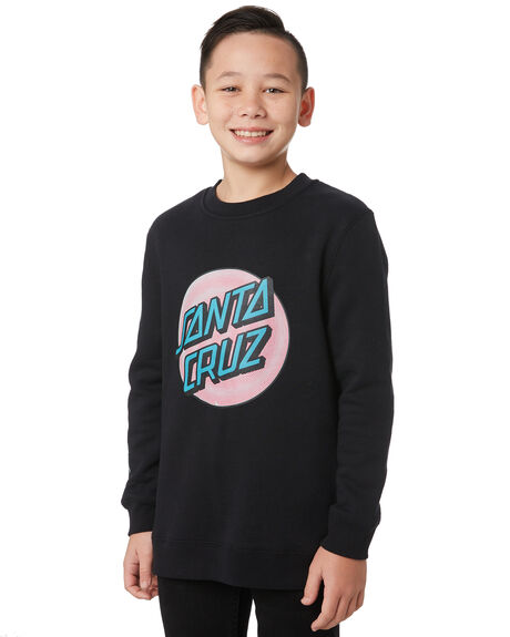 BLACK KIDS BOYS SANTA CRUZ JUMPERS + JACKETS - SC-YFA9306BLK