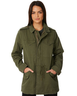 OLIVE WOMENS CLOTHING THRILLS JACKETS - WTW8-220FOLV