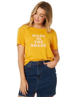 GOLDEN GLOW WOMENS CLOTHING BILLABONG TEES - 6582021GOL