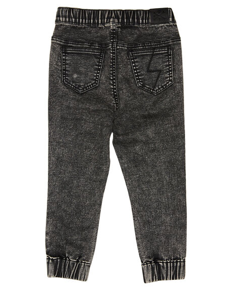 GREY ACID WASH KIDS BOYS ALPHABET SOUP PANTS - AS-KPA8374GRYAW