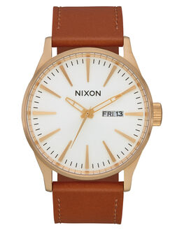 GOLD WHITE SADDLE MENS ACCESSORIES NIXON WATCHES - A1052621