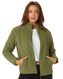 FADED OLIVE WOMENS CLOTHING RUSTY JACKETS - JKL0393FDO