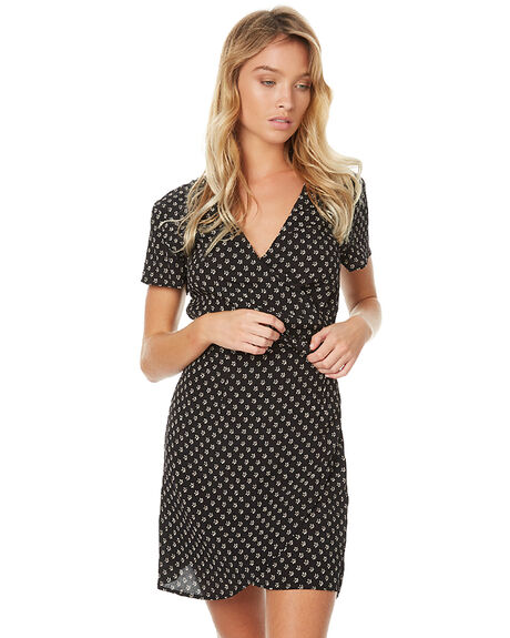 BLACK CREAM WOMENS CLOTHING SWELL DRESSES - S8172476BLKCR