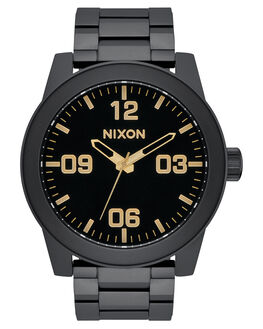 MATTE BLACK GOLD MENS ACCESSORIES NIXON WATCHES - A3461041