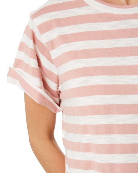 BLUSH WHITE STRIPE WOMENS CLOTHING SWELL TEES - S8184002BLWST