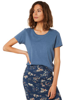 DUSTY BLUE WOMENS CLOTHING AFENDS TEES - W191004DBLU