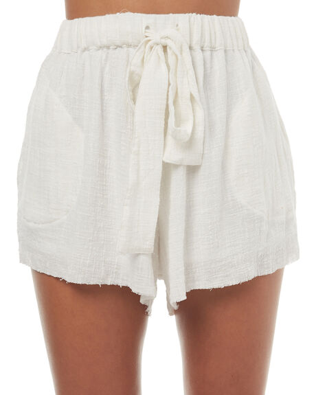 WHITE WOMENS CLOTHING RUE STIIC SHORTS - SO1723YWHT
