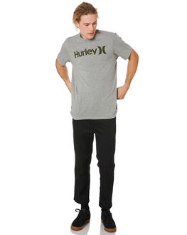 DARK GREY HEATHER MENS CLOTHING HURLEY TEES - AH7935065