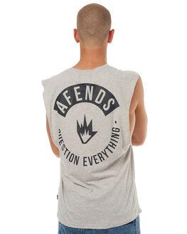 GREY MARLE MENS CLOTHING AFENDS SINGLETS - 01-05-106GRYM