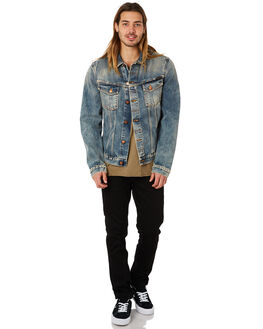 SHIMMERING INDIGO MENS CLOTHING NUDIE JEANS CO JACKETS - 160606B26