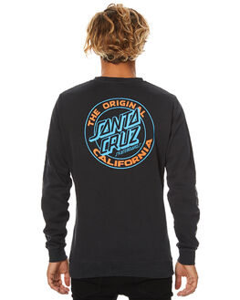OD BLACK MENS CLOTHING SANTA CRUZ JUMPERS - SC-MFB7506ODBLK