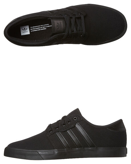 BLACK BLACK MENS FOOTWEAR ADIDAS SKATE SHOES - SSAQ8531BKBKM