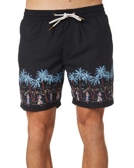 ISLAND BLACK MENS CLOTHING BARNEY COOLS BOARDSHORTS - 601-CC1ISBLK