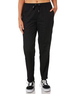 BLACK WOMENS CLOTHING HUFFER PANTS - WPA91S5711BLK