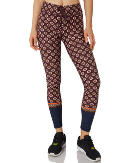 MAROON MULTI WOMENS CLOTHING THE UPSIDE ACTIVEWEAR - UPSW119003MARN
