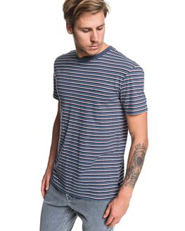 BLUE NIGHT SHERD MENS CLOTHING QUIKSILVER TEES - EQYKT03909-BST3