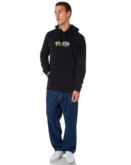 BLACK MENS CLOTHING HUF JUMPERS - FL00080-BLACK